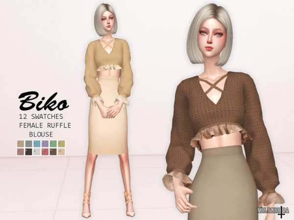 The Sims Resource: BIKO   Blouse by Helsoseira