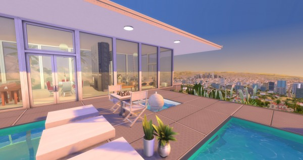 Mod The Sims: The Stahl House No CC by Velouriah