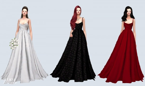 SIMS4 Marigold: Mari Wedding Dress