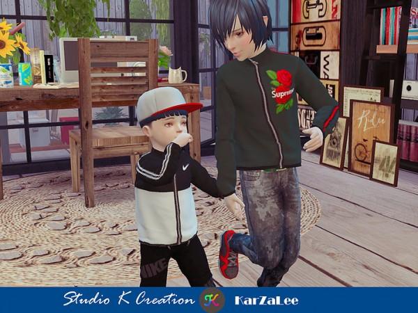 Studio K Creation: Full zip sweatshirt   toddlers