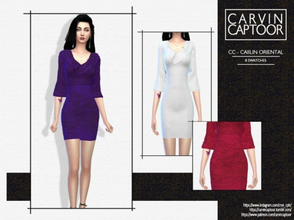 The Sims Resource: Caiilin Oriental Dress by carvin captoor