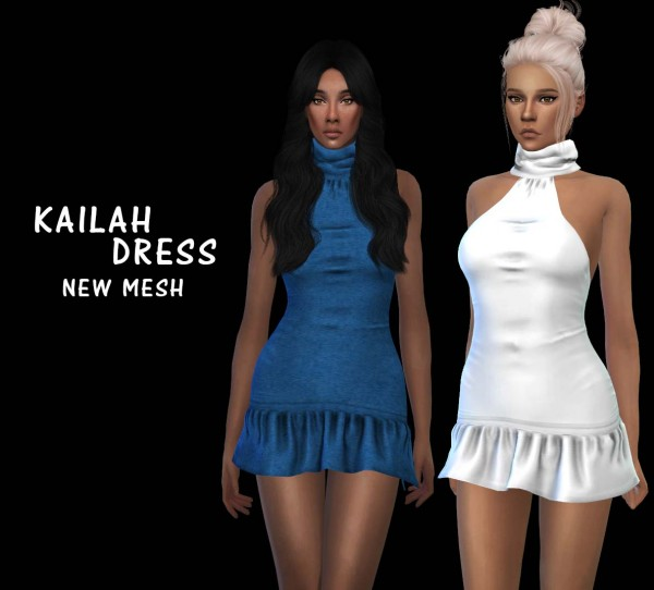 Leo 4 Sims: Kailah Dress recolored