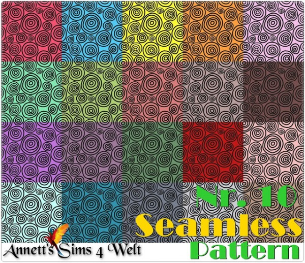 Annett`s Sims 4 Welt: Seamless Pattern Nr. 10 and Nr. 11