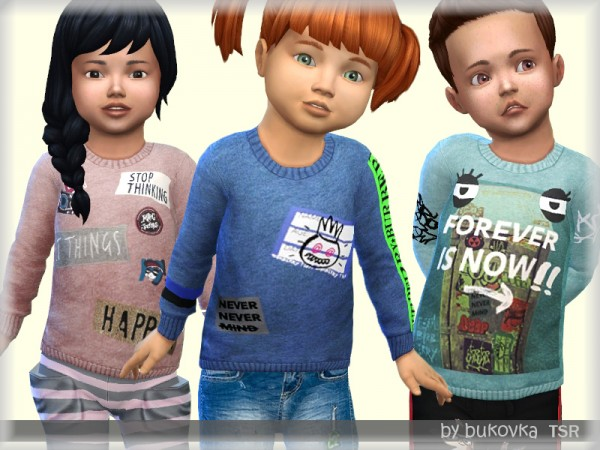 The Sims Resource: Sweater Toddler by bukovka