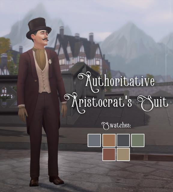 History Lovers Sims Blog: Authoritative Aristoctrat`s Suit