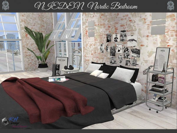 The Sims Resource: Neiden Nordic Bedroom by RightHearted