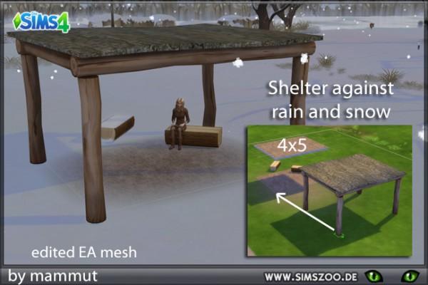 Blackys Sims 4 Zoo: Shelter Tree logs by mammut