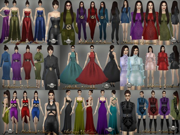 The Sims Resource: Asliene dress 2 by jomsims