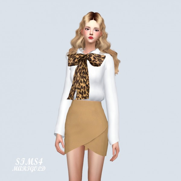SIMS4 Marigold: Big Ribbon Shirt