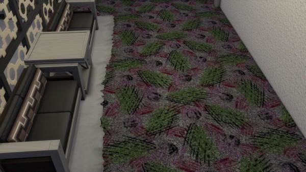 La Luna Rossa Sims: Modern Design Plush Carpet