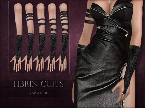 The Sims Resource: Fibrin Cuffs by RemusSirion