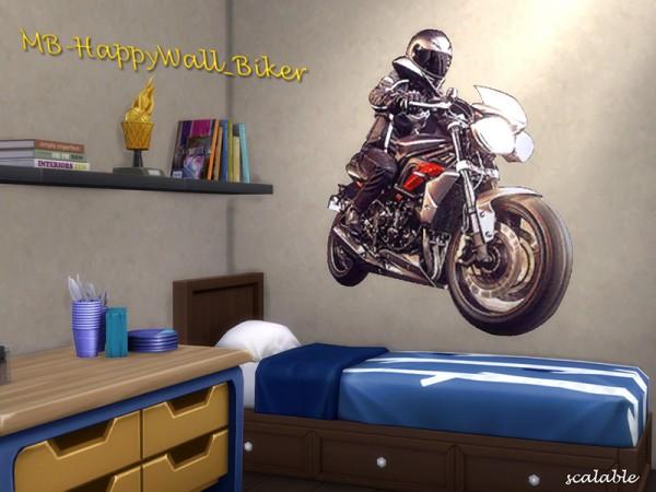 The Sims Resource: Happy Wall Biker by  matomibotaki