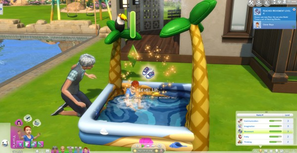 Mod The Sims: Kiddie Pools Give Movement Skill for Toddlers by Evvi