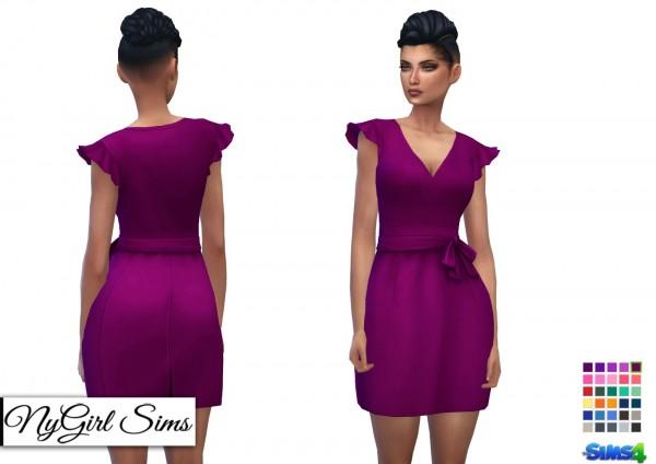 NY Girl Sims: Ruffle Sleeve Smock Dress
