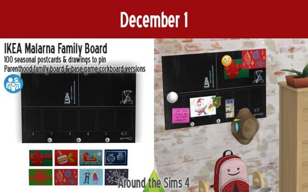 Around The Sims 4: Advent Calendar   Malarna Family Board