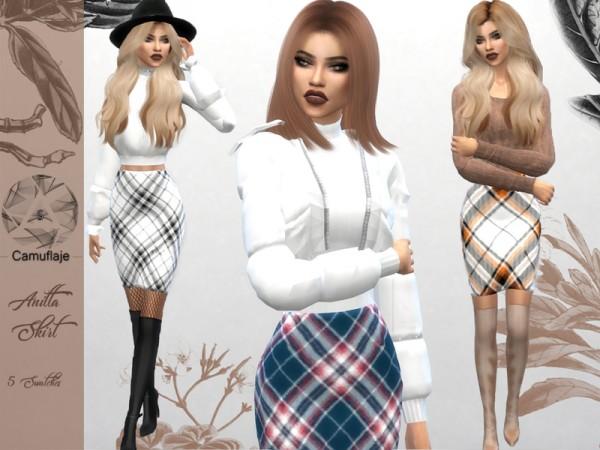 The Sims Resource: Anitta Skirt by Camuflaje