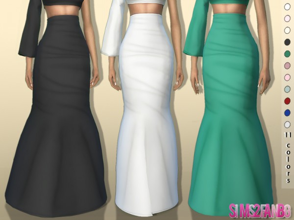 The Sims Resource: 3D High Long Skirt 361 by sims2fanbg