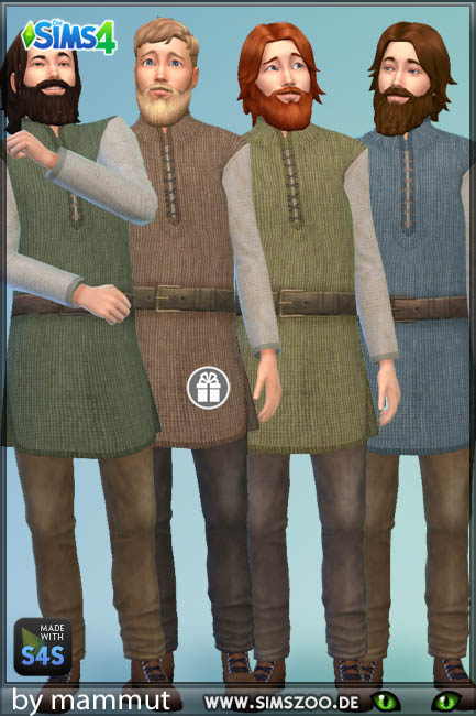 Blackys Sims 4 Zoo: Outfit Viking 1 by mammut