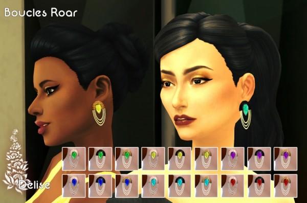 Sims Artists: Roar Earrings