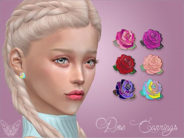 Giulietta Sims: Rose Studs