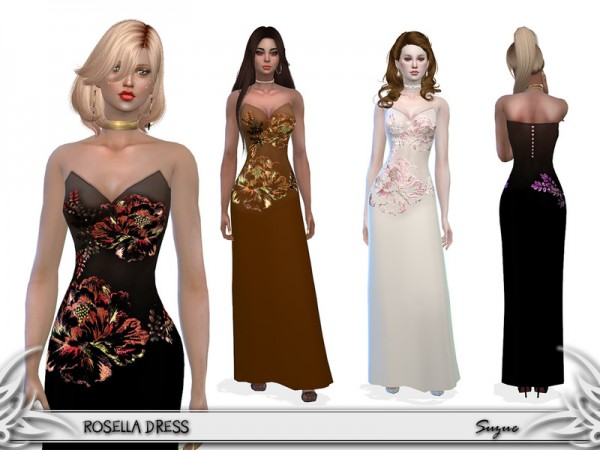 The Sims Resource: Rosella Dress by Suzue