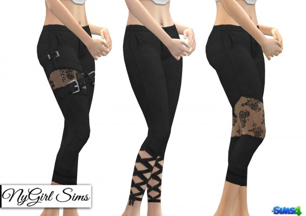NY Girl Sims: Black Cutout Yoga Legging 3 Pack