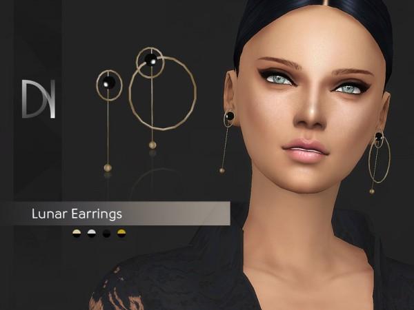 The Sims Resource: Lunar Earrings by DarkNighTt