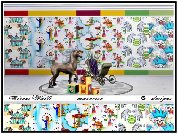 The Sims Resource: Circus Walls by marcorse