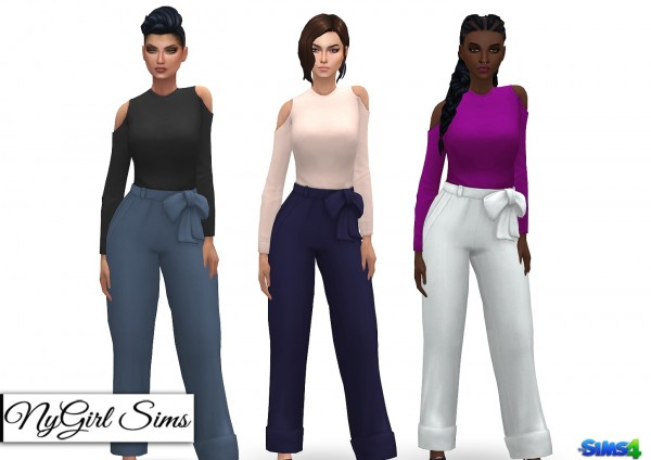 NY Girl Sims: Open Shoulder Jumpsuit