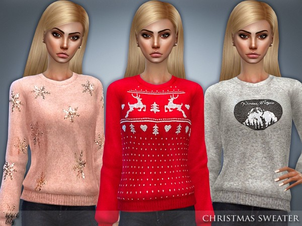 The Sims Resource: Christmas Sweater by Black Lily