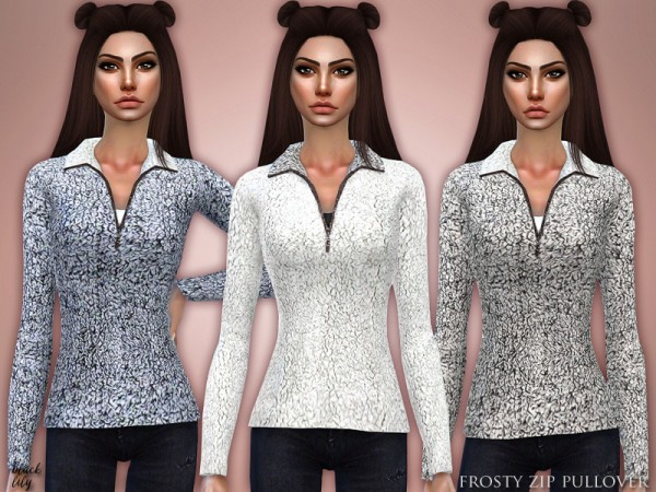 The Sims Resource: Frosty Zip Pullover by Black Lily