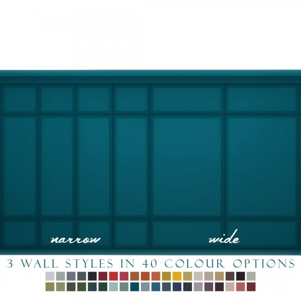 Simsational designs: Sophisticated Panelling   Narrow and Wide Painted Panels in 40 Colours