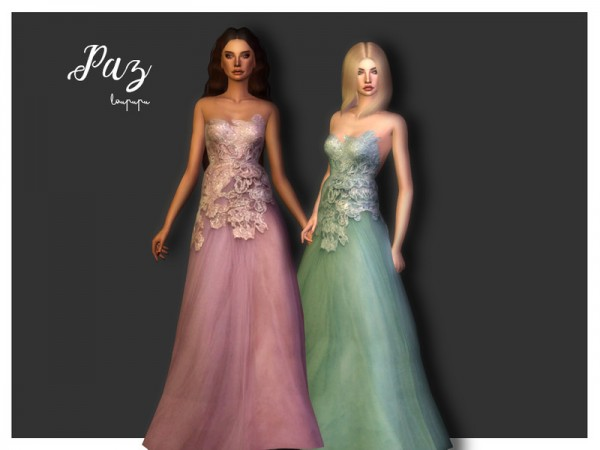 The Sims Resource: Paz dress by laupipi
