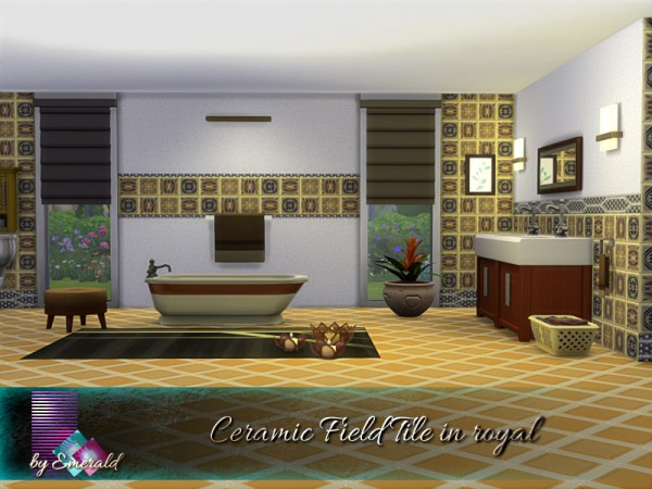 The Sims Resource: Ceramic Field Tile in royal by Emerald