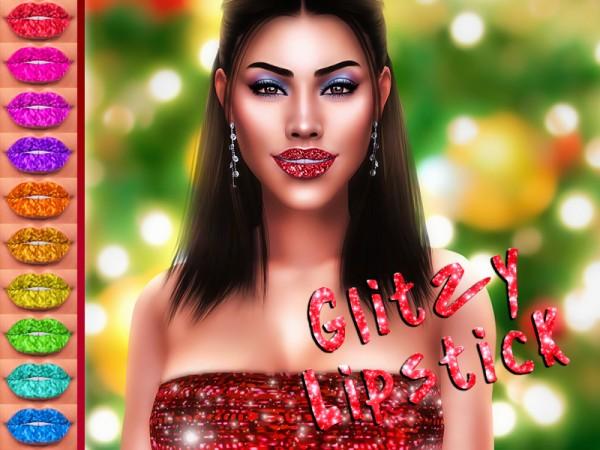 The Sims Resource: Glitzy Lipstick by KatVerseCC