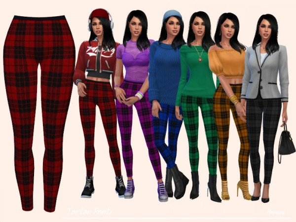 The Sims Resource: Tartan Pants by Paogae
