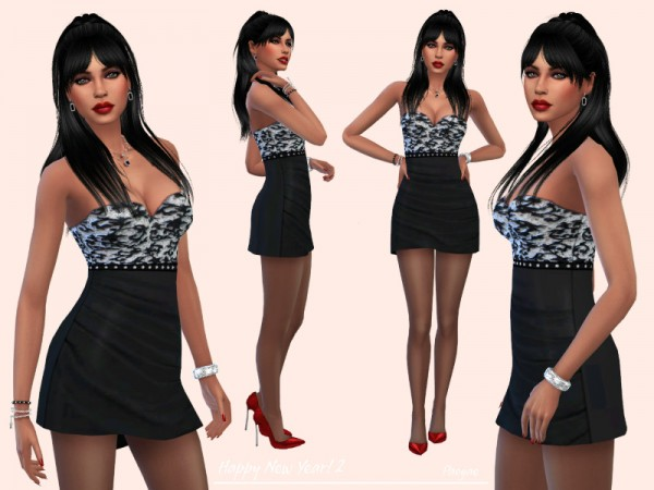 The Sims Resource: HappyNewYear! dress  by Paogae
