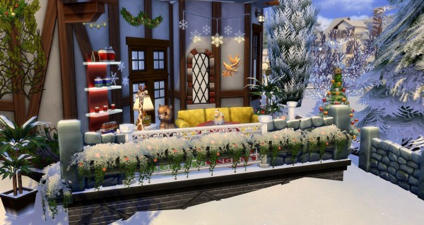 Luniversims: River Christmas House by Coco Simy