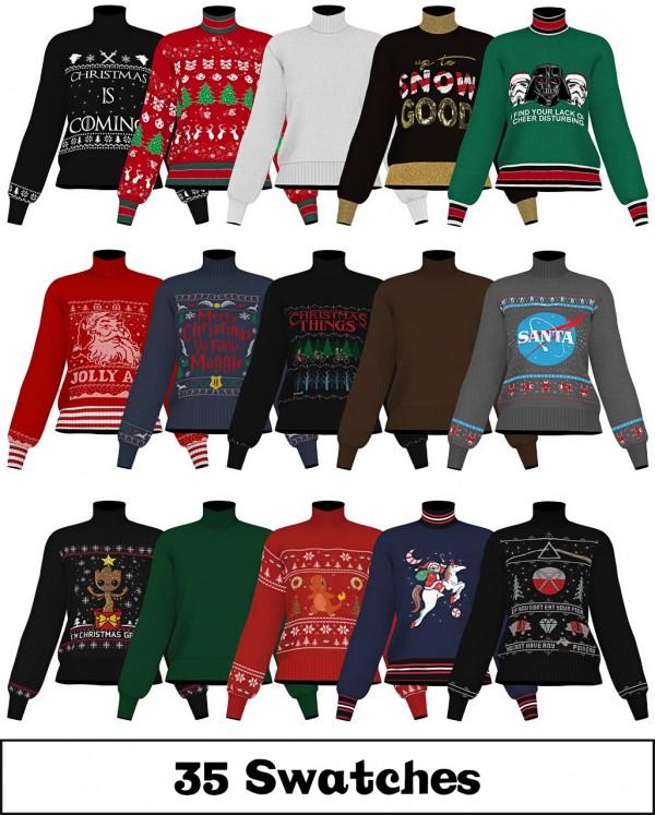 LumySims: Ugly Xmas Sweater 18