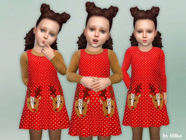 The Sims Resource: Toddler Deer Dress by lillka