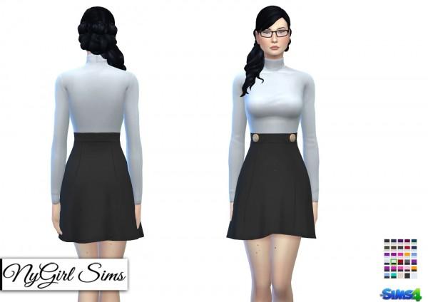 NY Girl Sims: Turtleneck High Waist Dress