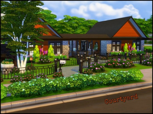 The Sims Resource: Courtyard House by sparky