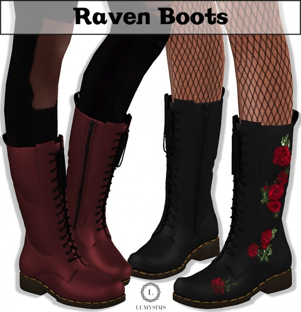Lumy Sims Raven Boots Sims 4 Downloads