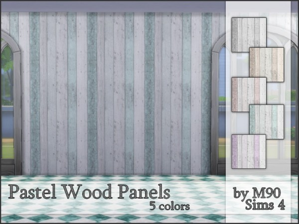 The Sims Resource: Pastel Wood Panels by Mircia90