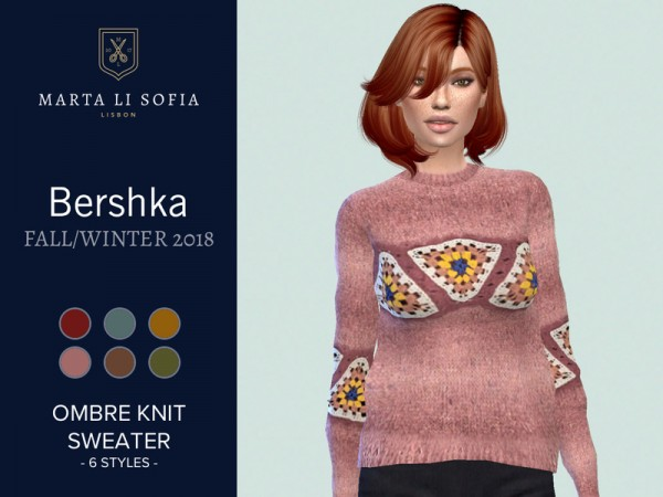 The Sims Resource: Ombre Knit sweater by martalisofia