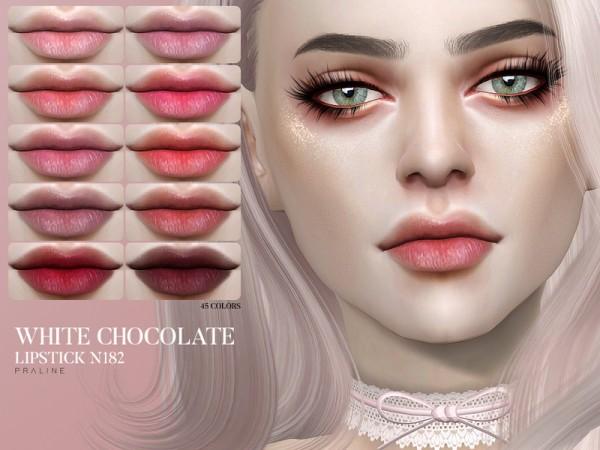 The Sims Resource: White Chocolate Lipstick N182 by Pralinesims