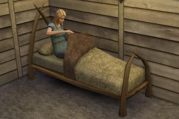 Blackys Sims 4 Zoo: Viking bed 1 Single by mammut