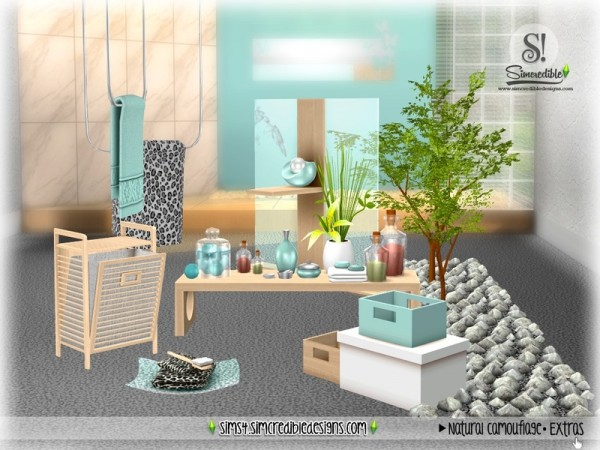 The Sims Resource: Natural Camouflage Decor by SIMcredible!