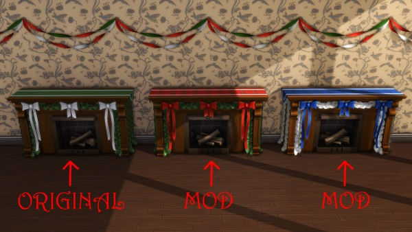Mod The Sims: Holiday Celebration Pack Fireplace by simsi45