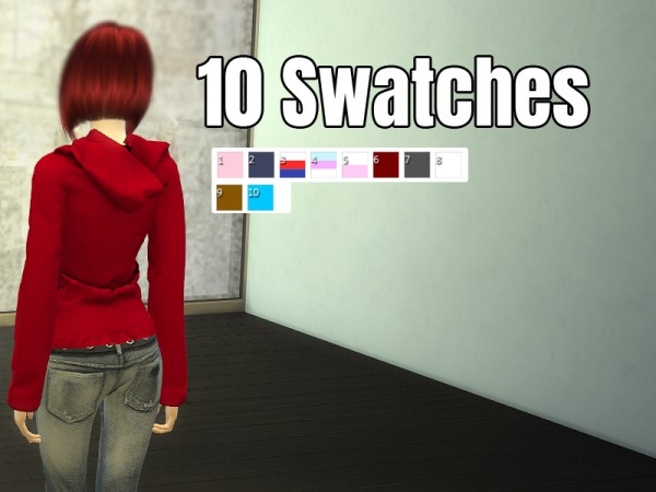 The Sims Resource: Hoodie with Pockets by Nalae